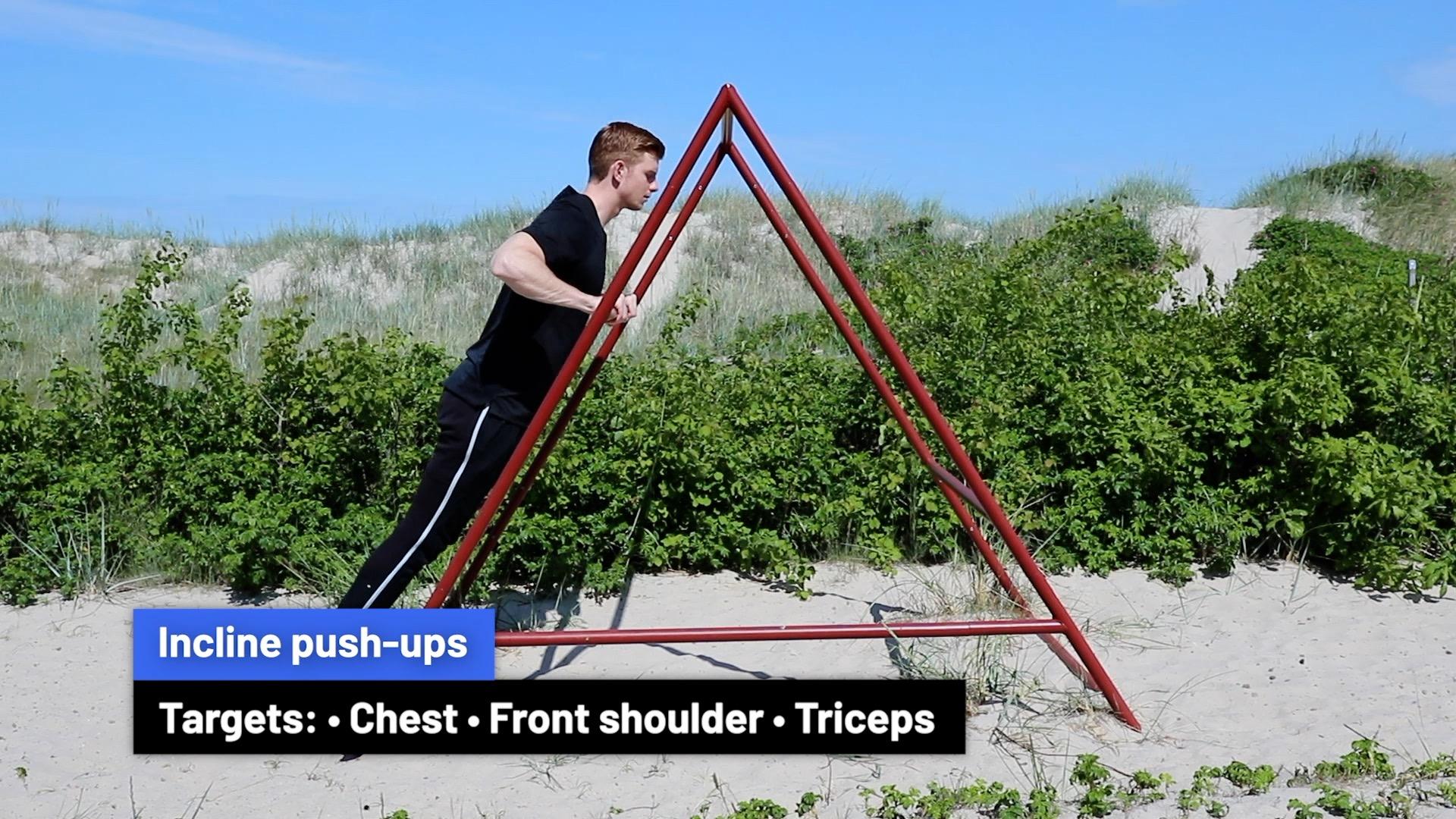 Incline push-ups