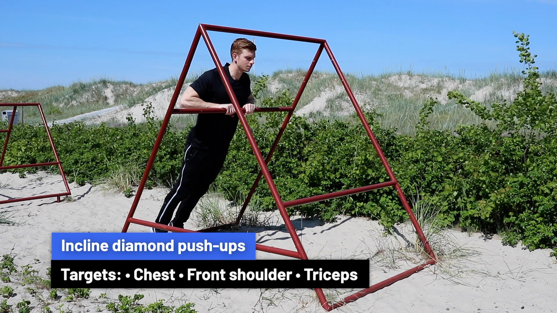 Incline diamond push-ups