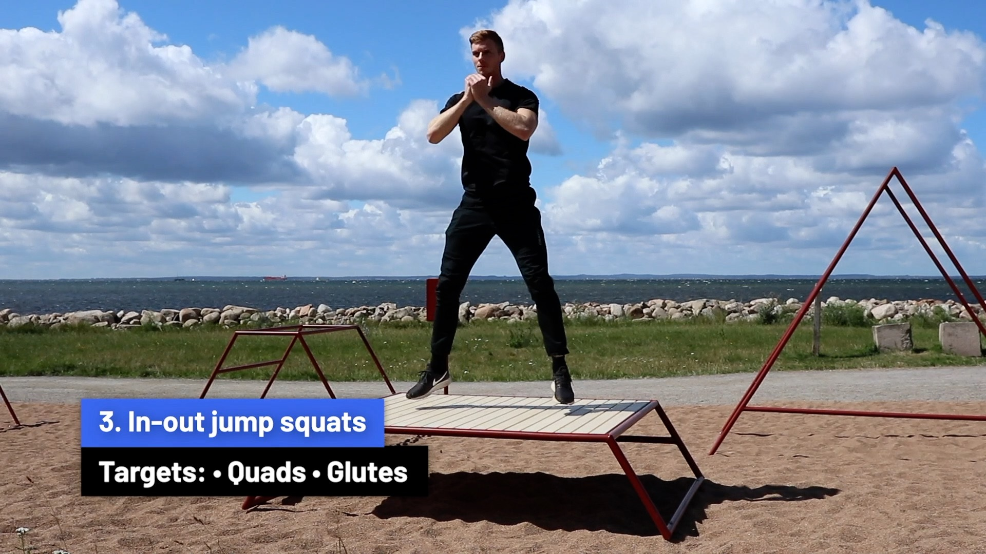 In-out jump squats