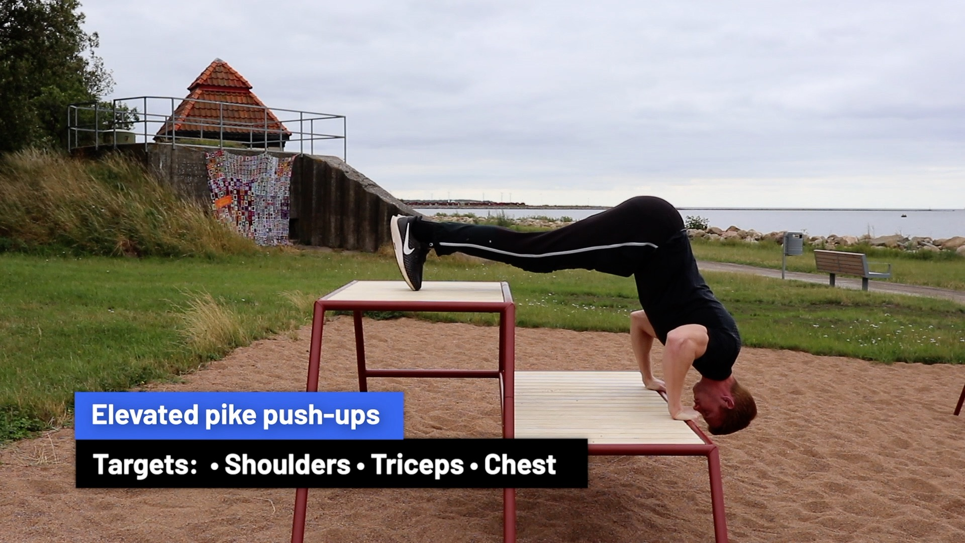 Elevated pike push-ups