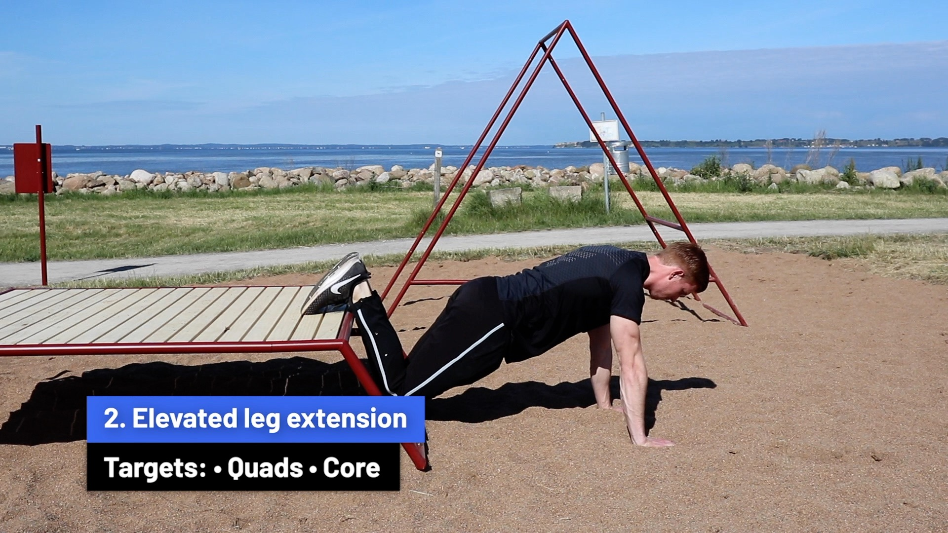 Elevated leg extensions