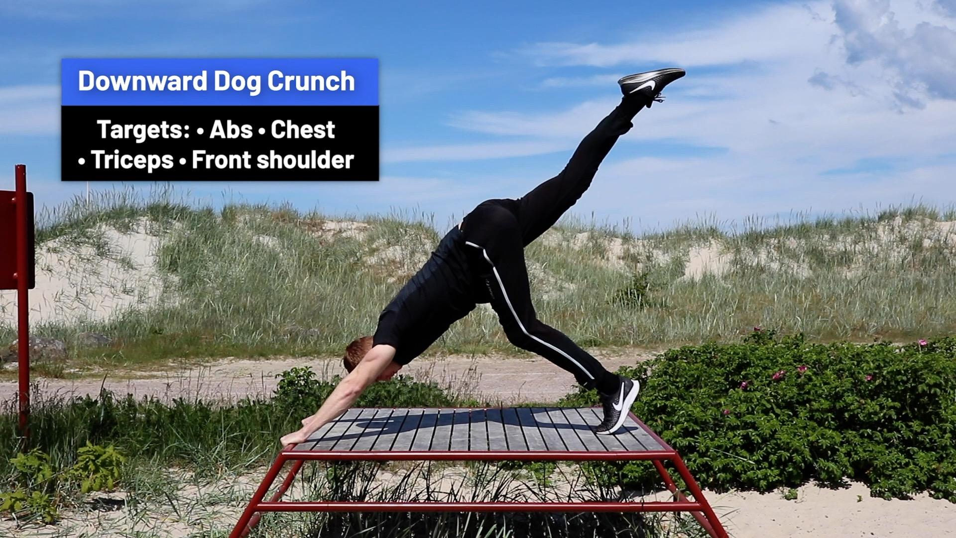 Downward dog crunch