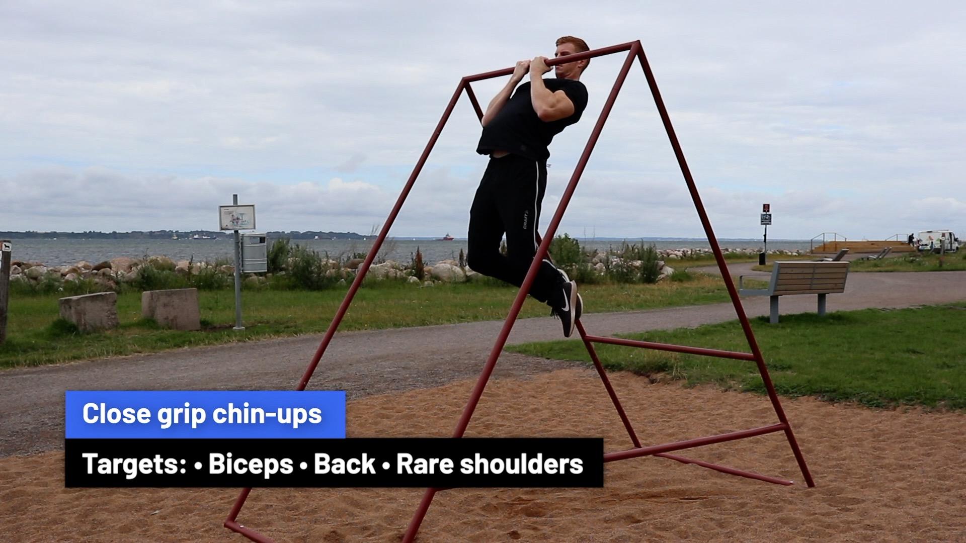 Close grip chin-ups