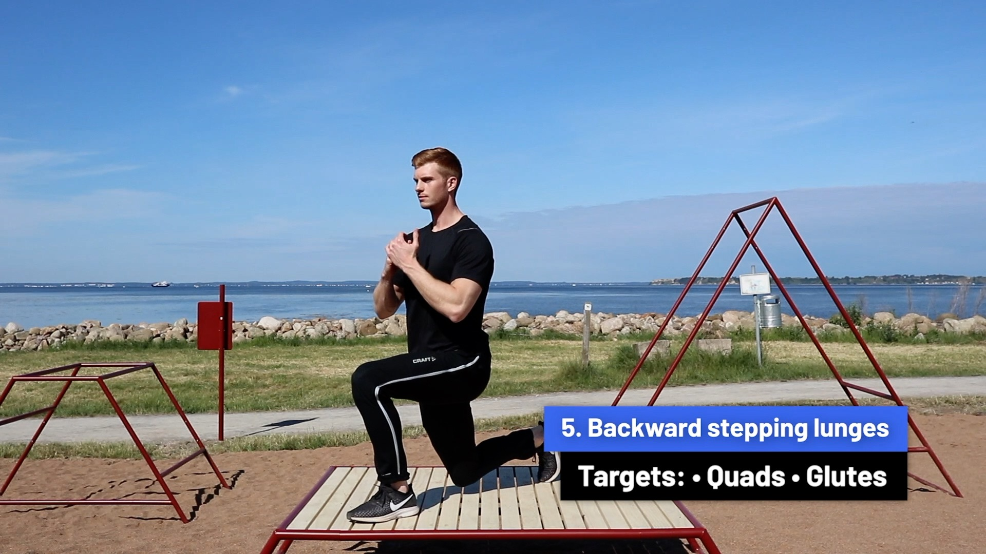 Backward stepping lunges