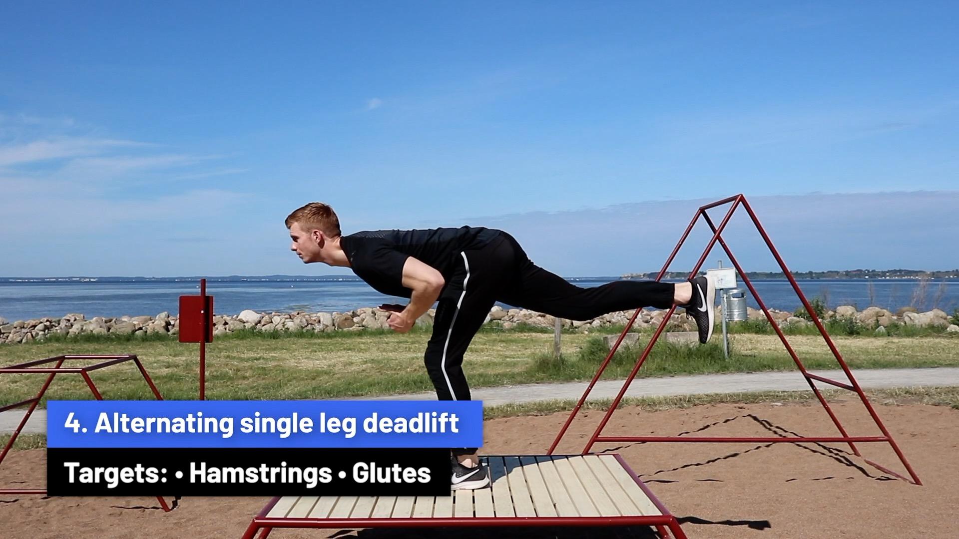 Alternating single leg deadlift