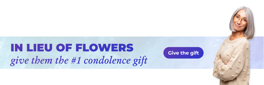Atticus condolences sympathy gift in lieu of flowers