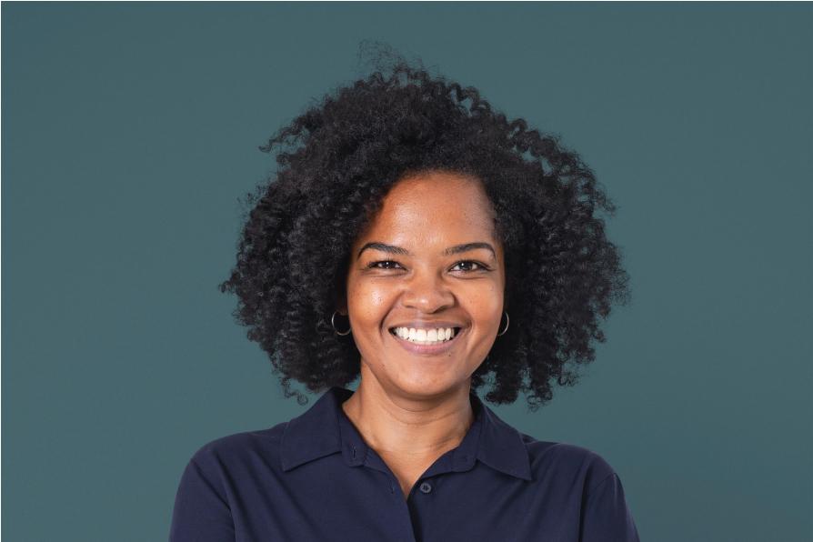 Confident estate planning female attorney smiling closeup portrait