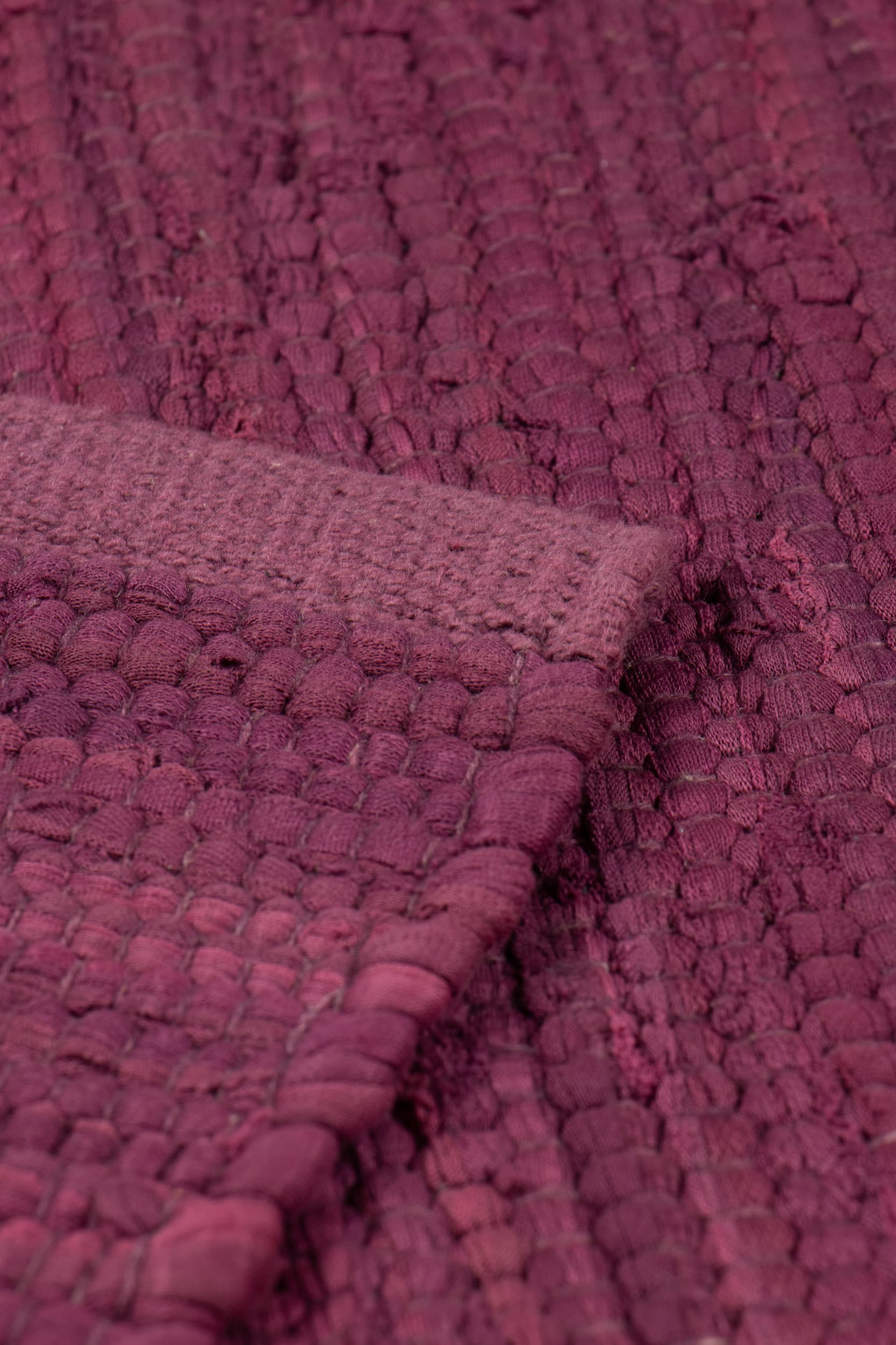 Bold Raspberry Cotton Rug