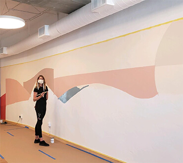 """A site-specific mural called """"Crescere"""" in Brentwood"""