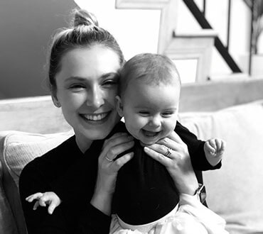 Elly Spyres with the little daughter