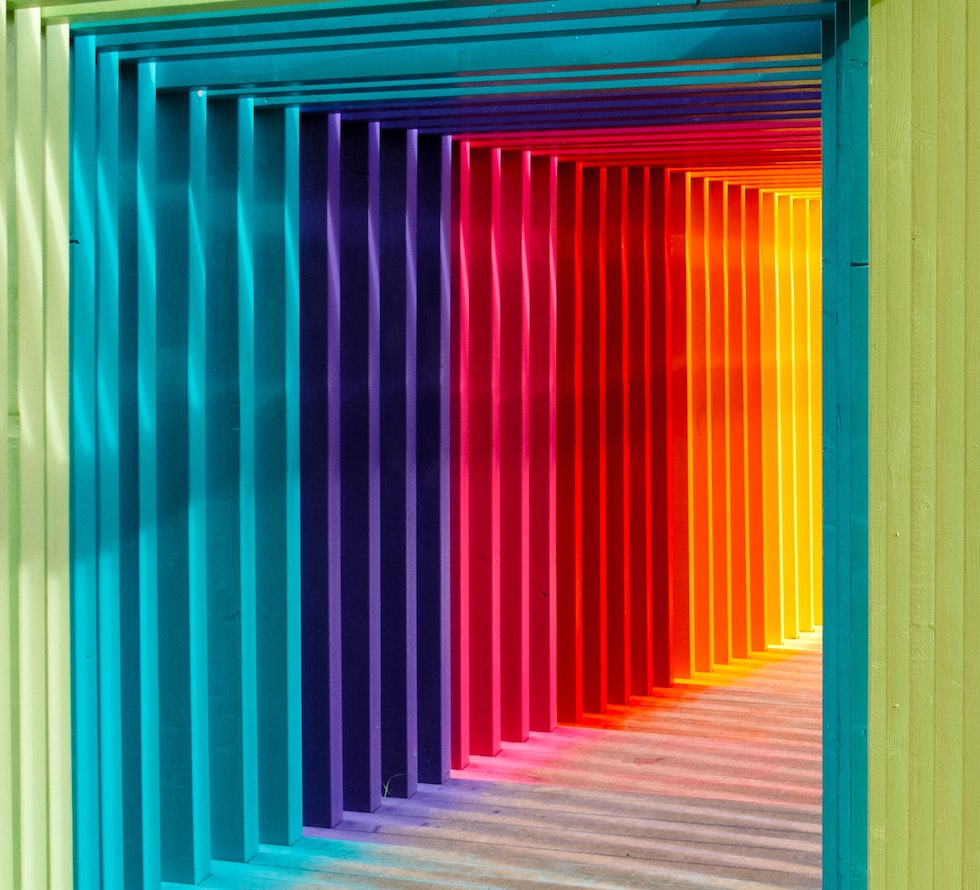 LGBTQ rainbow tunnel