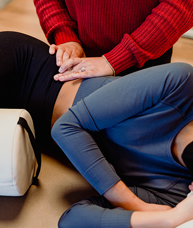 Women's physical therapy session (edited)