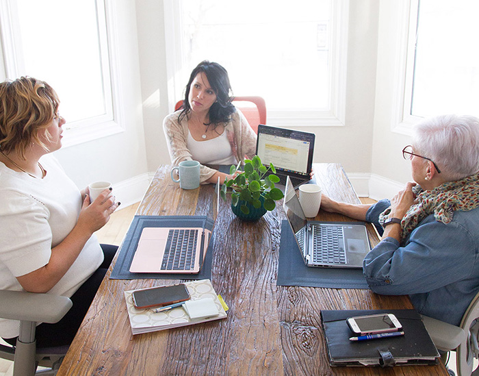 O Strategies Team at their office 90 Weldon Street