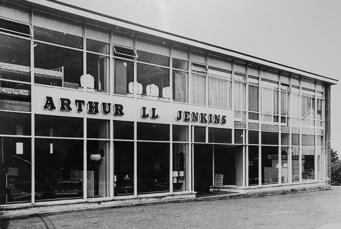 1958 photo of shop front