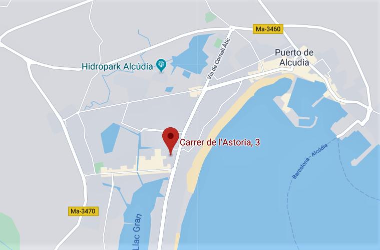 Mapa dirección Abex Alcudia: Carrer de l'Atoria 3