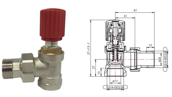 Ficha y Ficha técnica de la válvula de presión diferencial