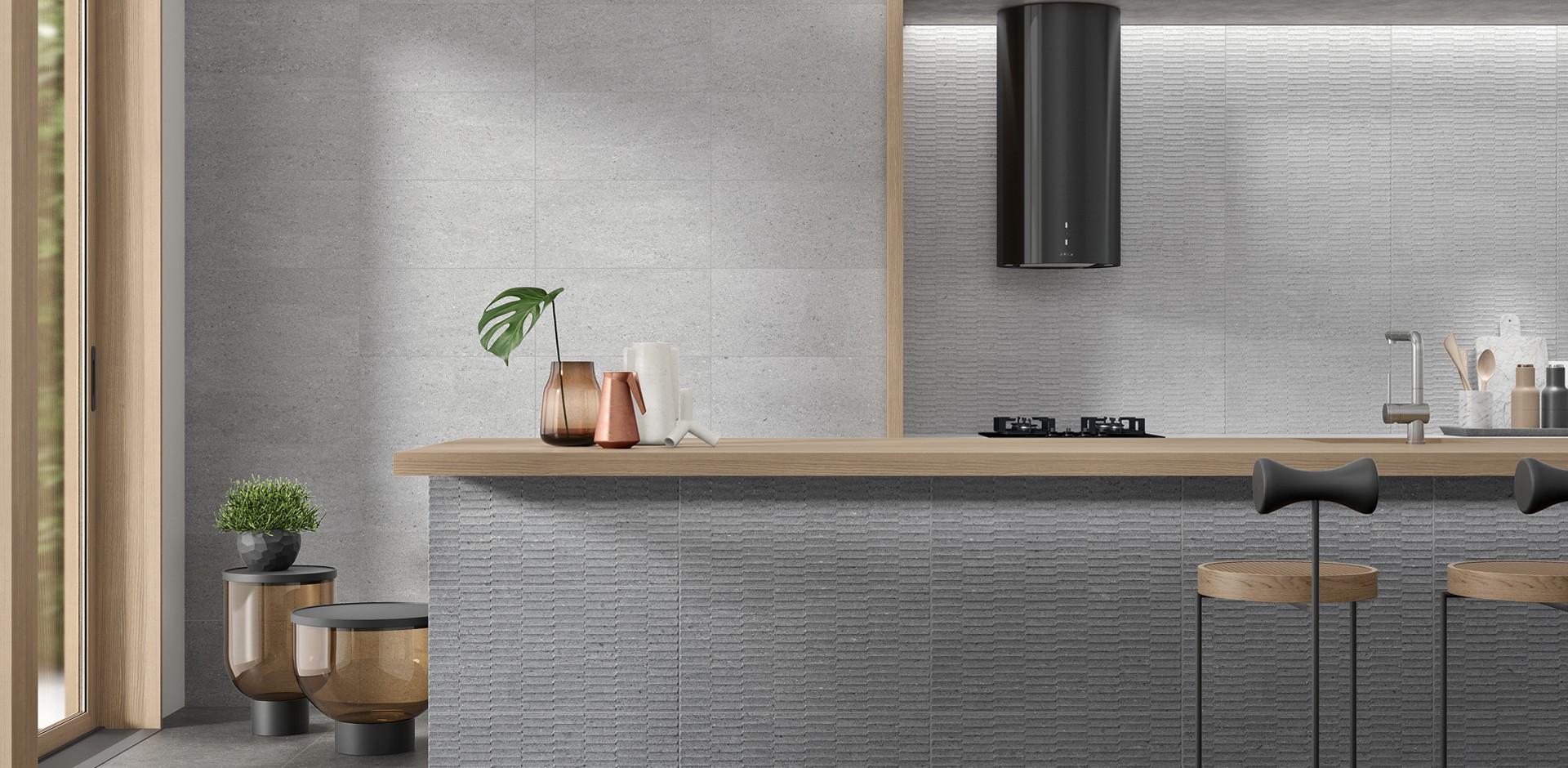 Revestimiento Blunt Mosaic Grey 30x60