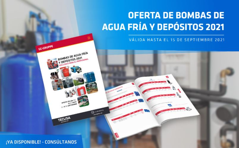 Flyer Catálogo Bombas de Agua Fría y Depósitos Teclisa 2021