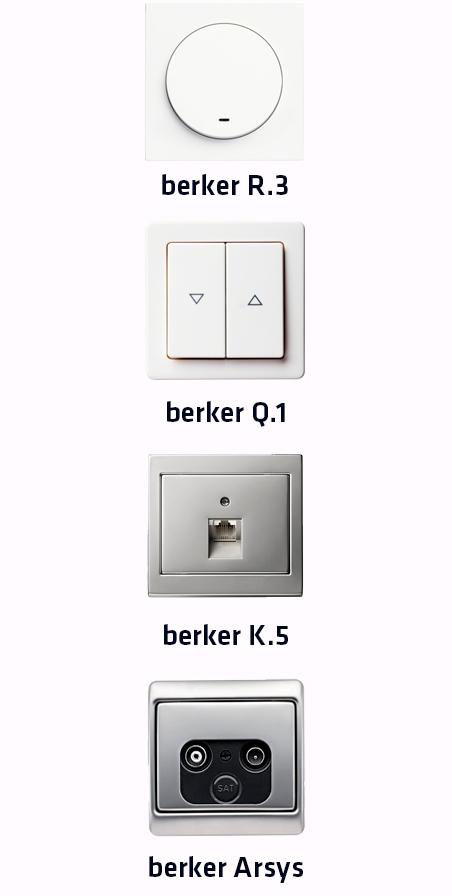 Modelos series berker Hager