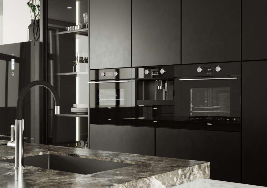 Cocina equipada con la colección Night River Black de Teka (Edición Urban Colors Edition)