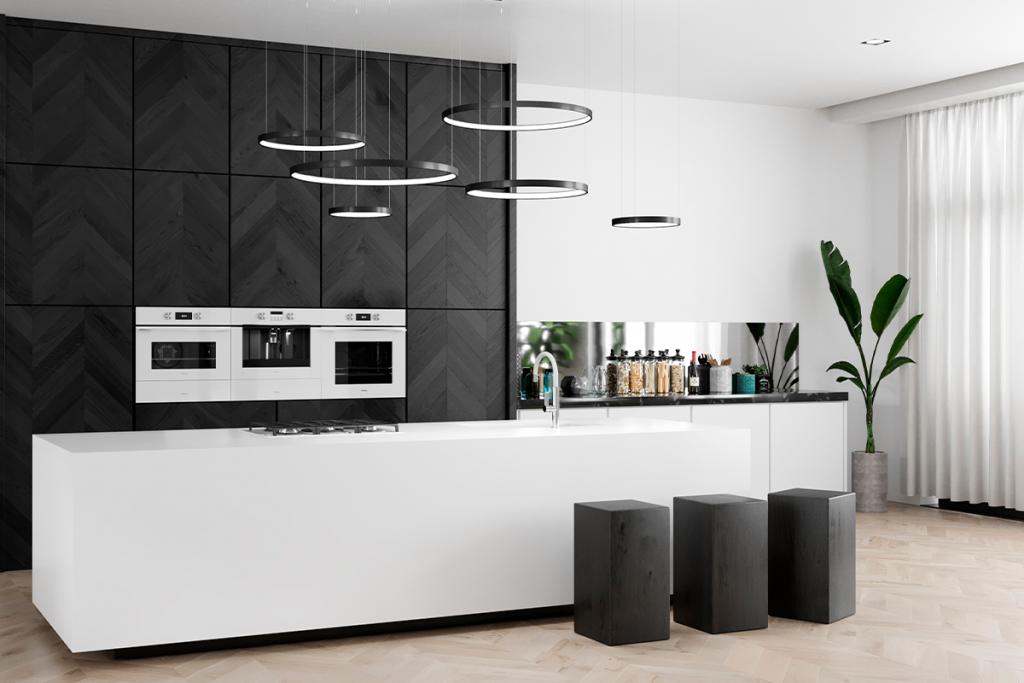 Cocina equipada con la colección White Marble de Teka (Edición Urban Colors Edition)