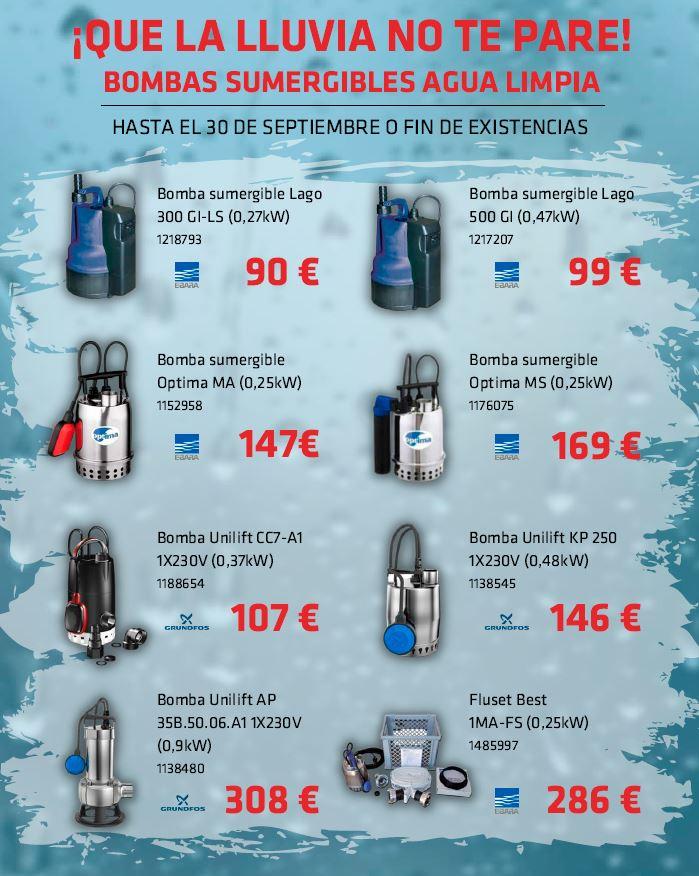 Teclisa Oferta Bombas de Agua Limpia Ebara y Grundfos Septiembre 2021