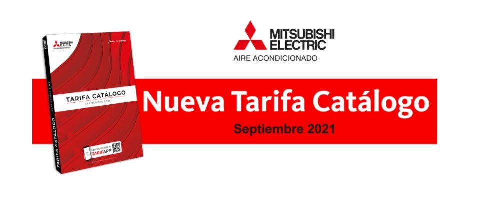 Portada Tarifa y Catálogo Mitsubishi Electric 2021, edición septiembre