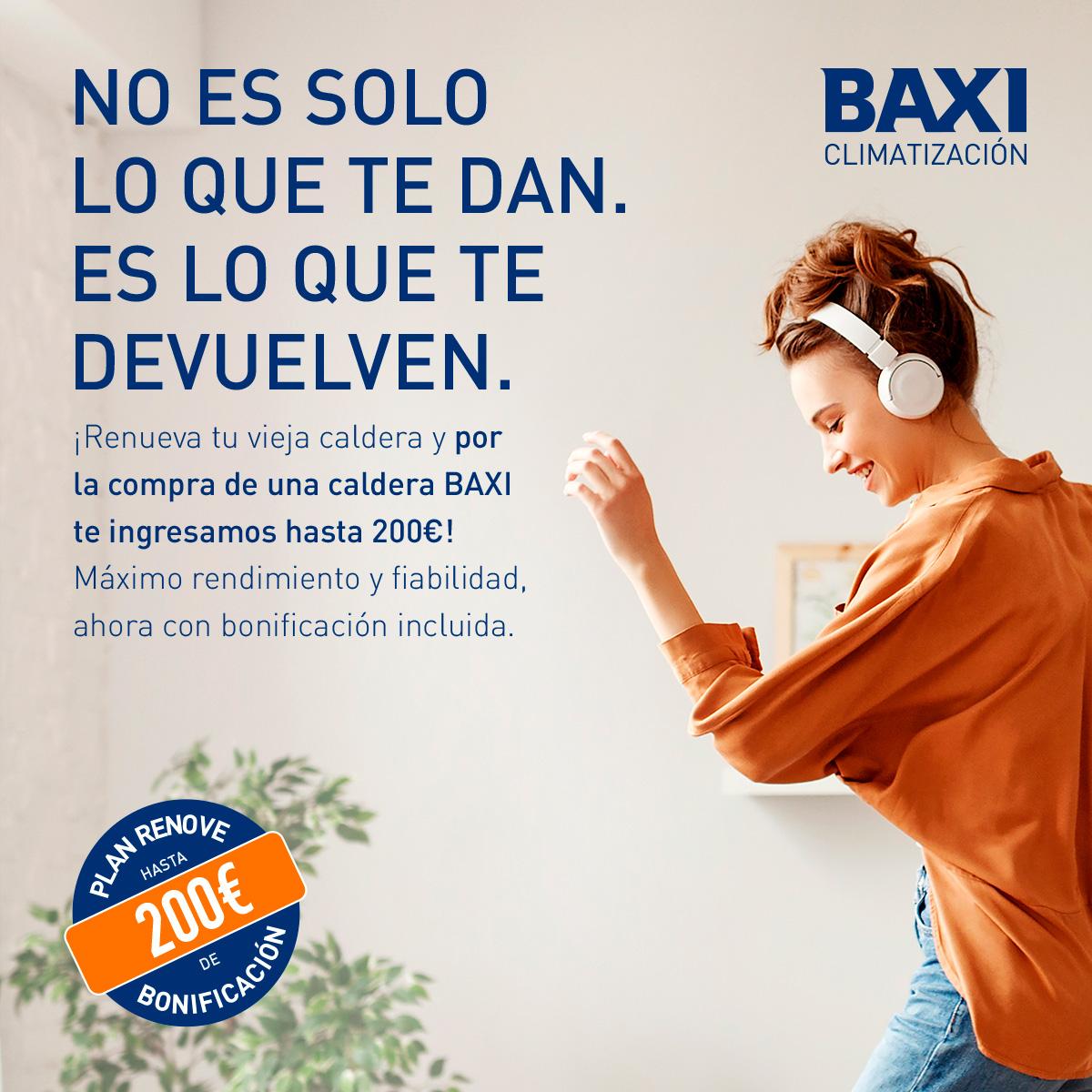 Plan renove de Baxi con reembolso de hasta 200€