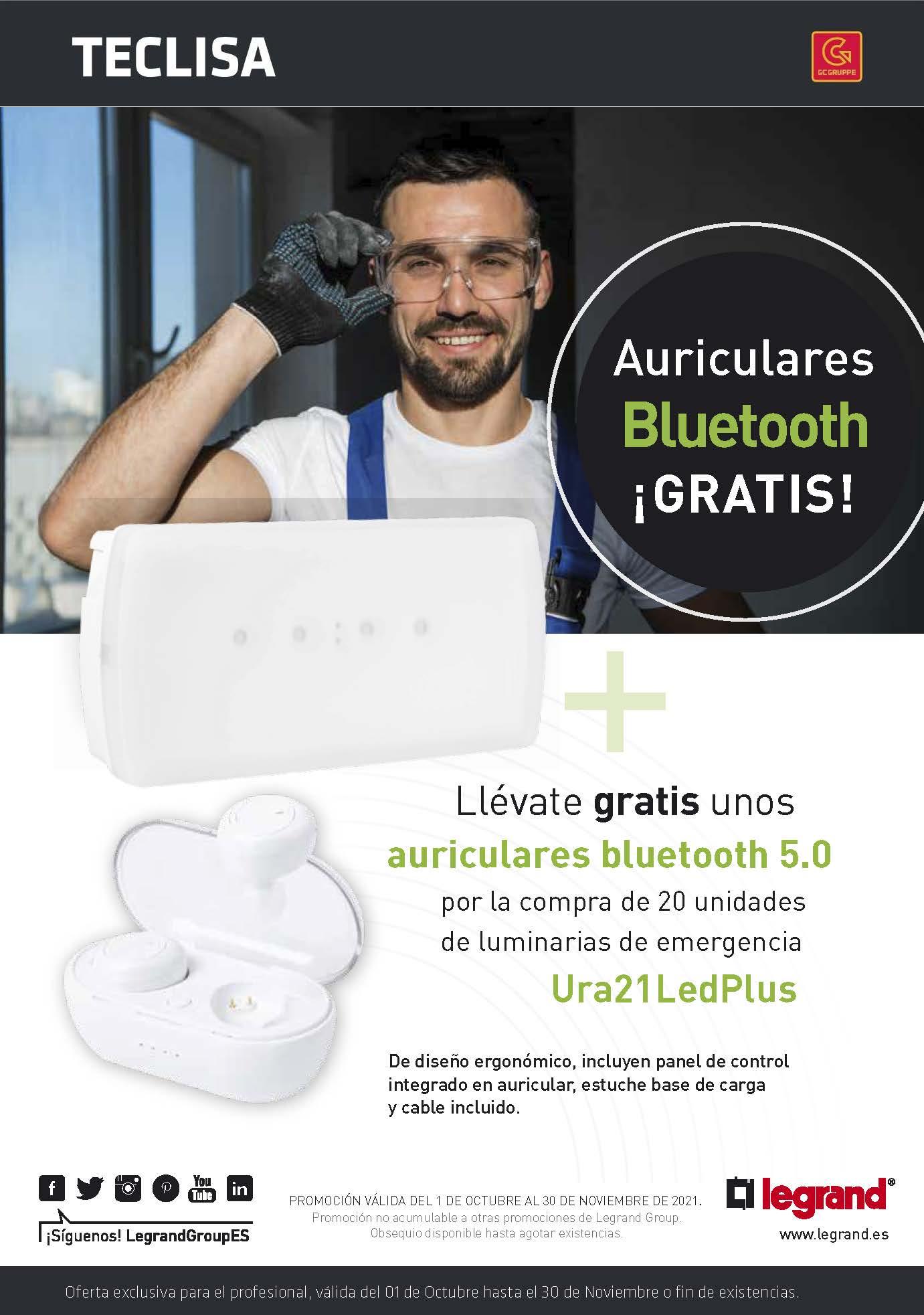 Promo Auriculares gratis con Luminarias de emergencia Legrand 2021