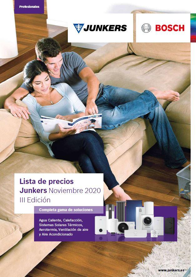 Portada Catálogo y Tarifa Junkers 2021 III Edición