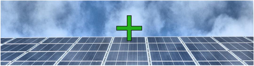 Die Vorteile: Solaranlage mieten in München mit einem grünen Plus und einer Solaranlage symbolisiert