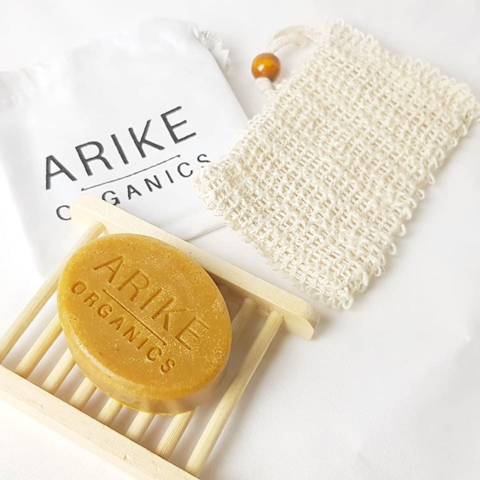 Organic soap and wash bag from Edinburgh black owned business Arike