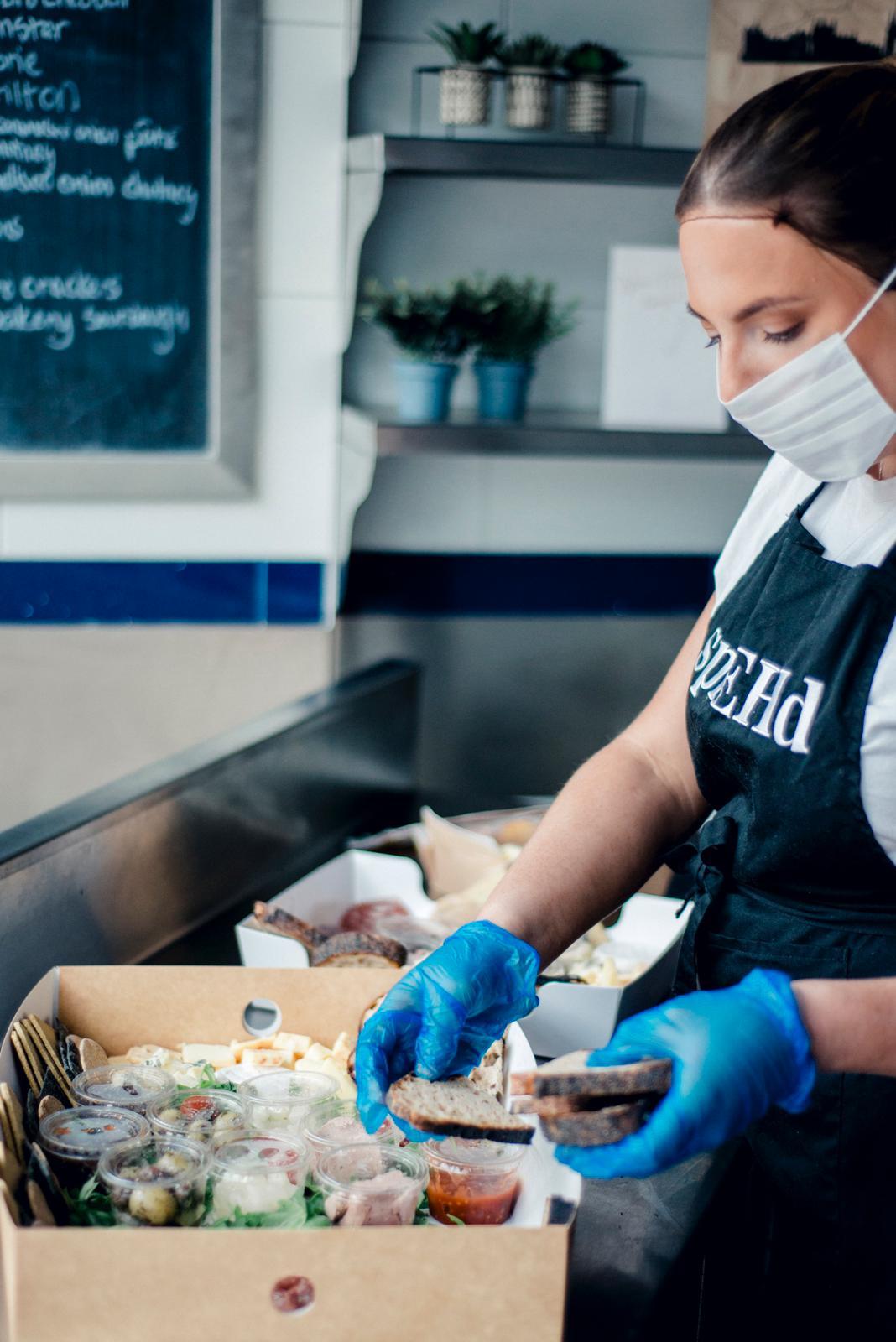 Hannah Beddie preparing a SprEHd box