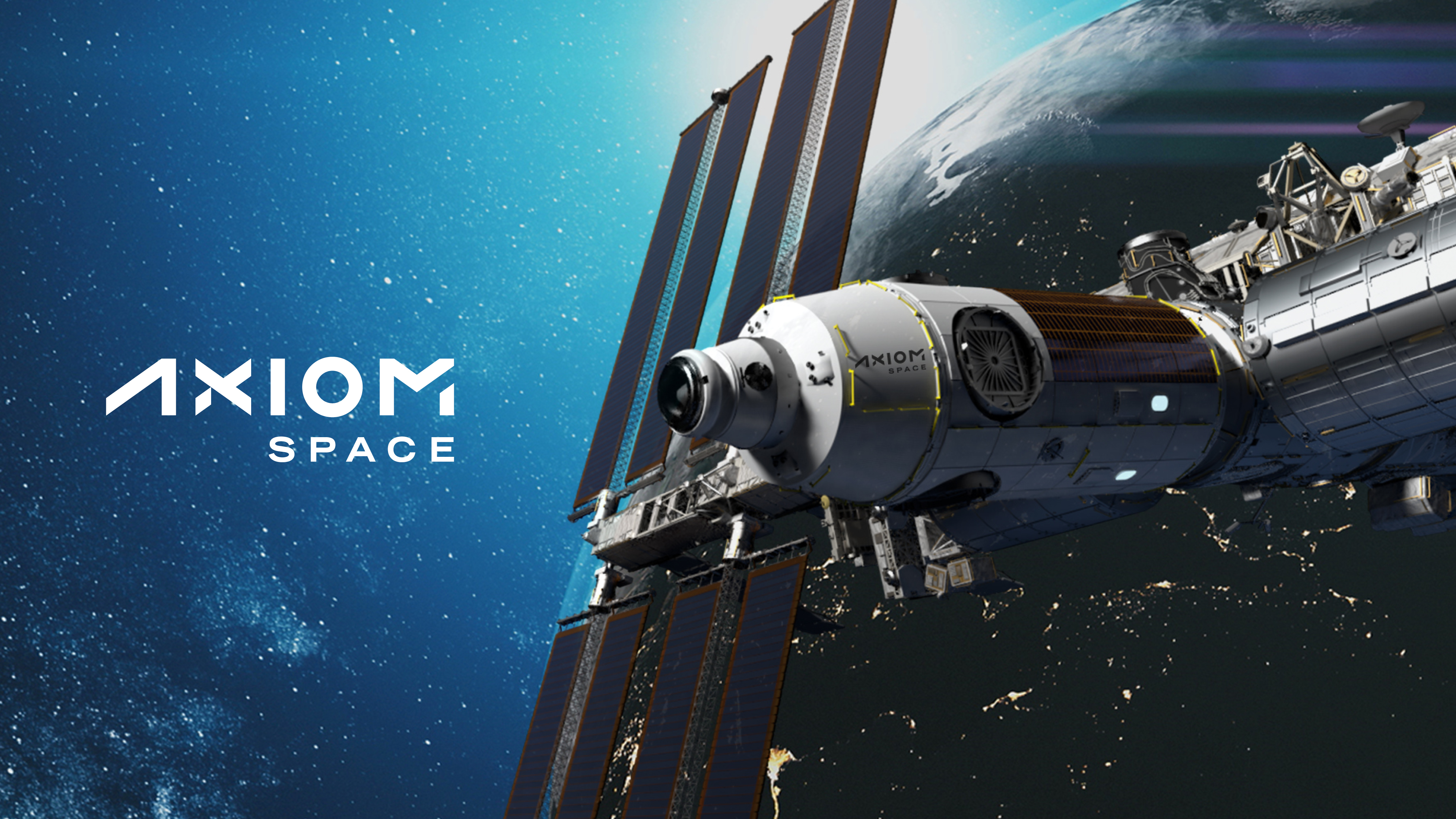 Axiom space station graphic and logo