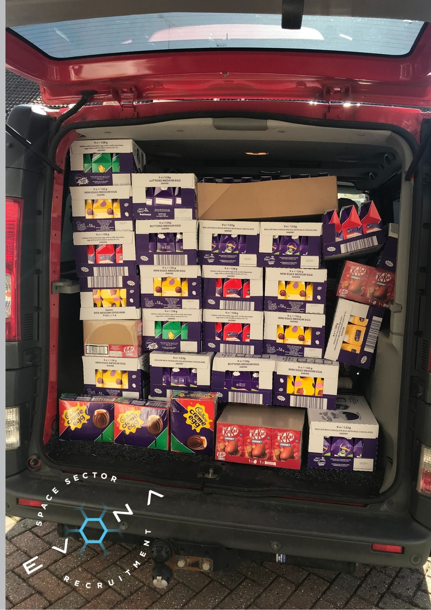 Family food 4 Free an boot loaded with Easter eggs!