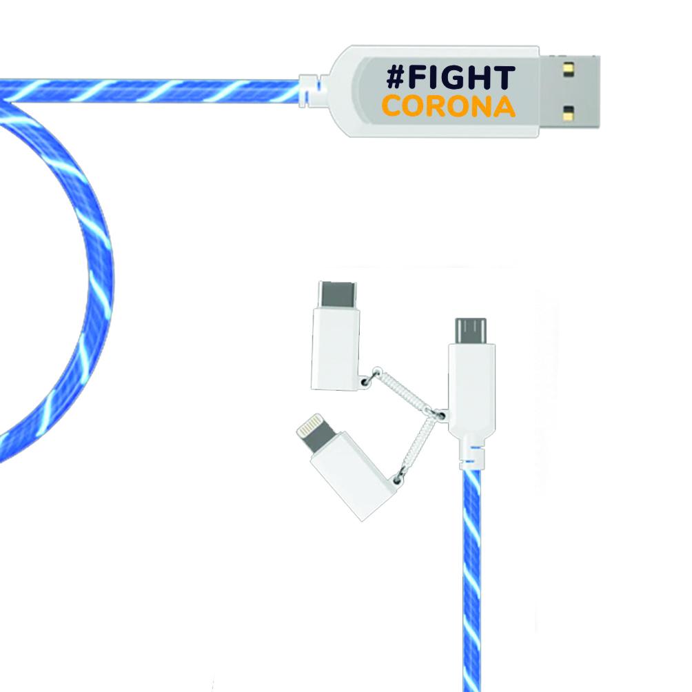 Smart laddare (USB-C/iPhone/Samsung)