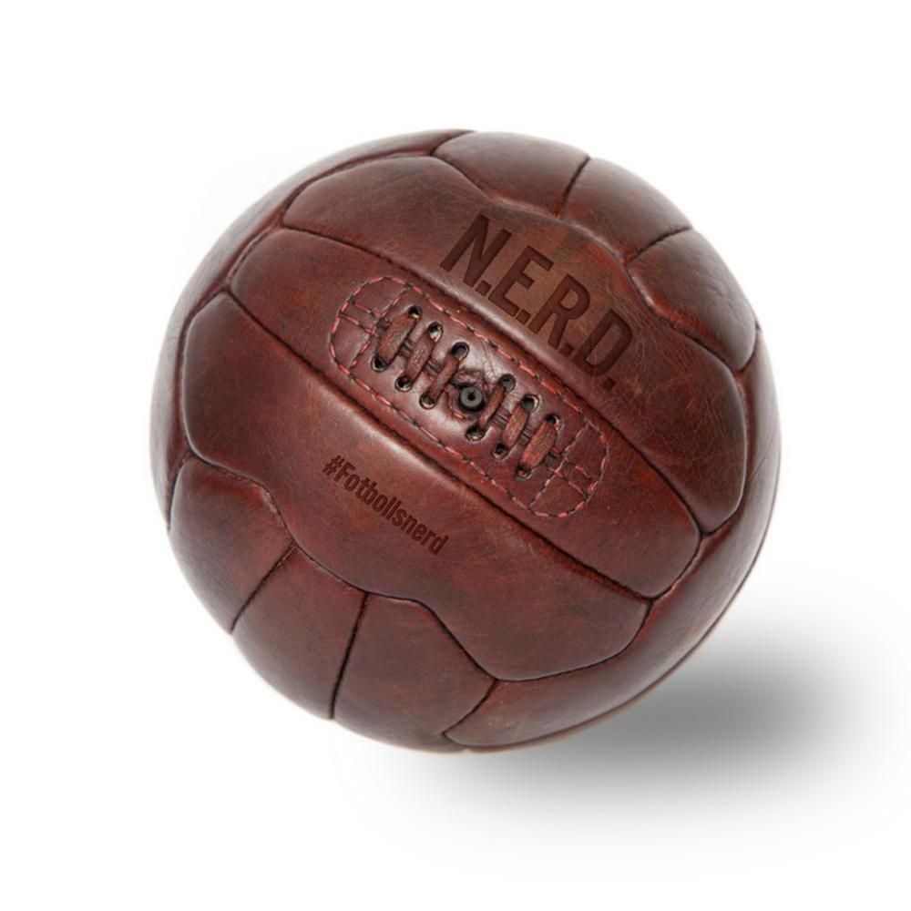 Vintage Fotboll i äkta läder