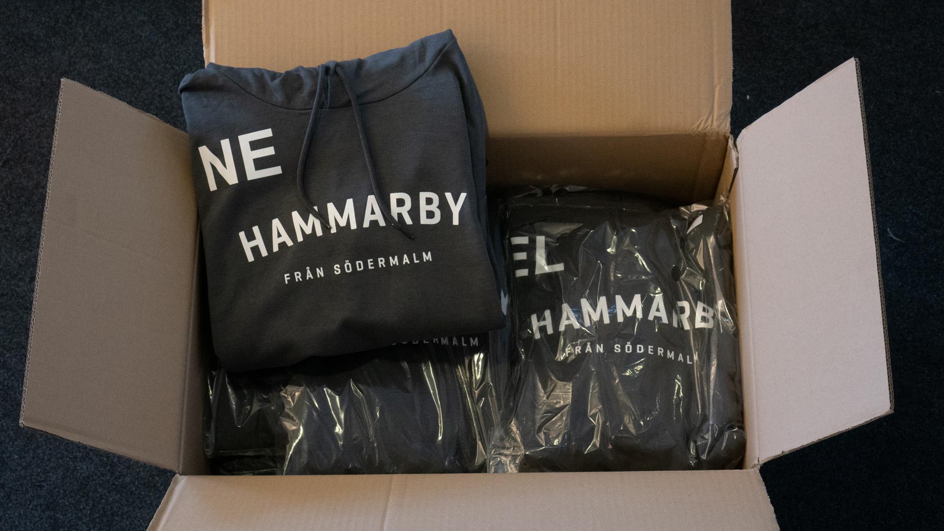 Leverans av Hoodies till Hammarby Ungdomslag