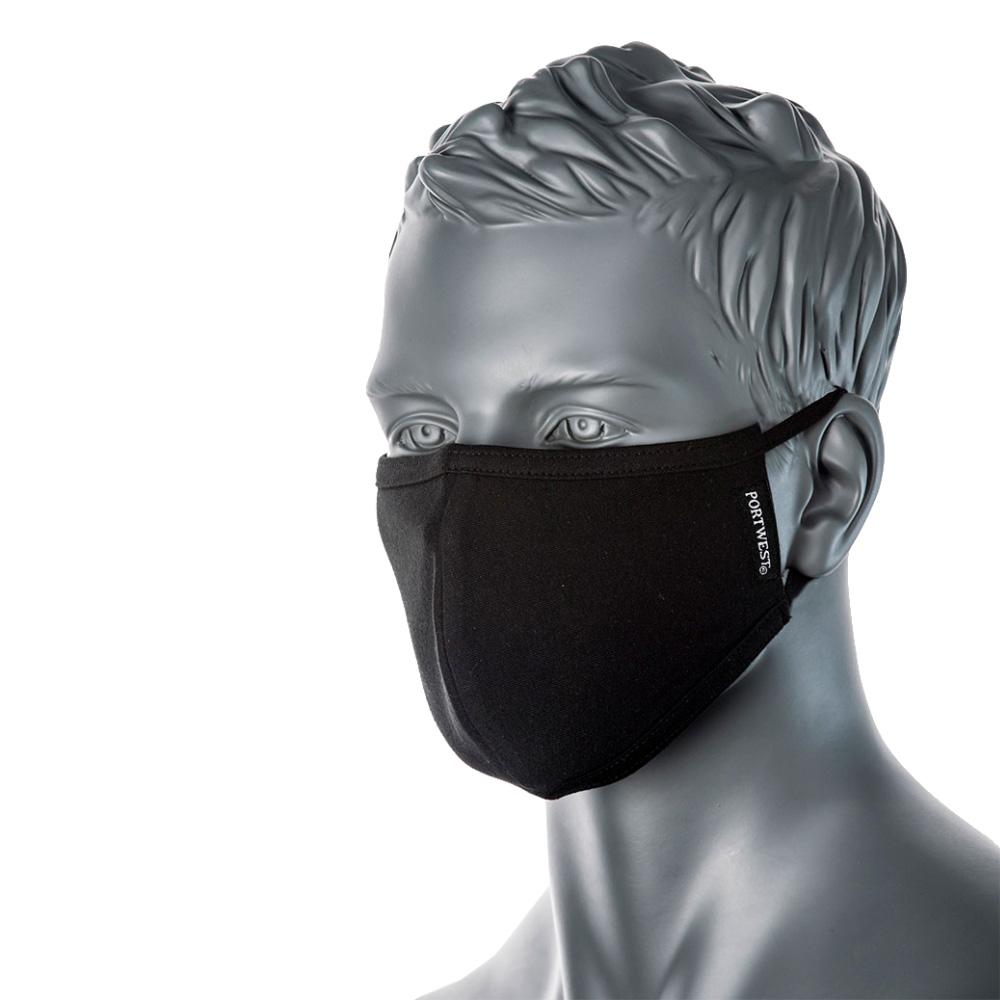 Munskydd i tyg – antimikrobisk ansiktsmask 2-pack, svarta