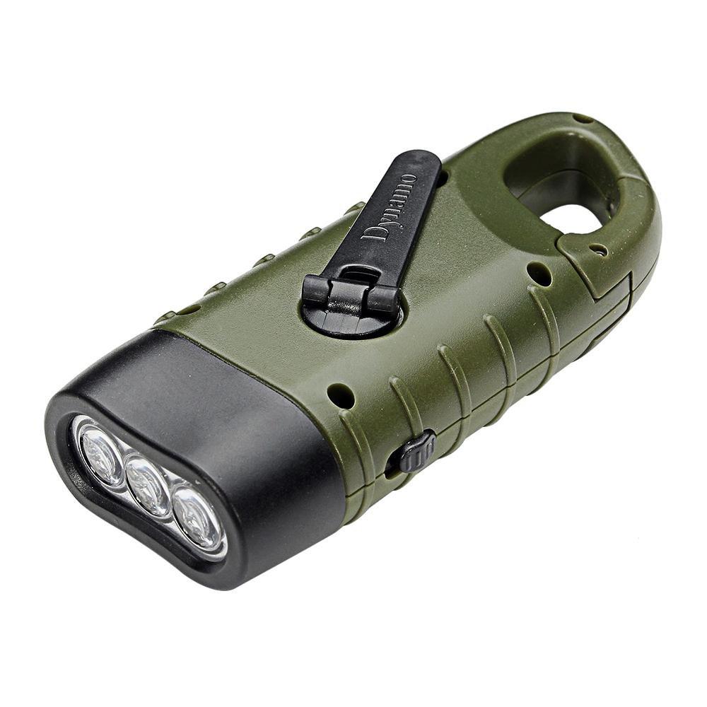 Dynamolampa – vevficklampa med solceller, grön