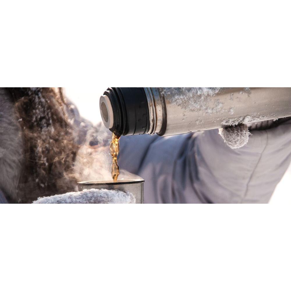 Termos 1 liter borstad - Vildmark Kompakt