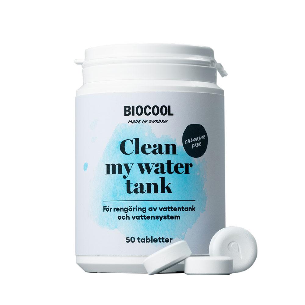 Rengöring av vattentank 50 tabletter –Biocool Clean my water tank