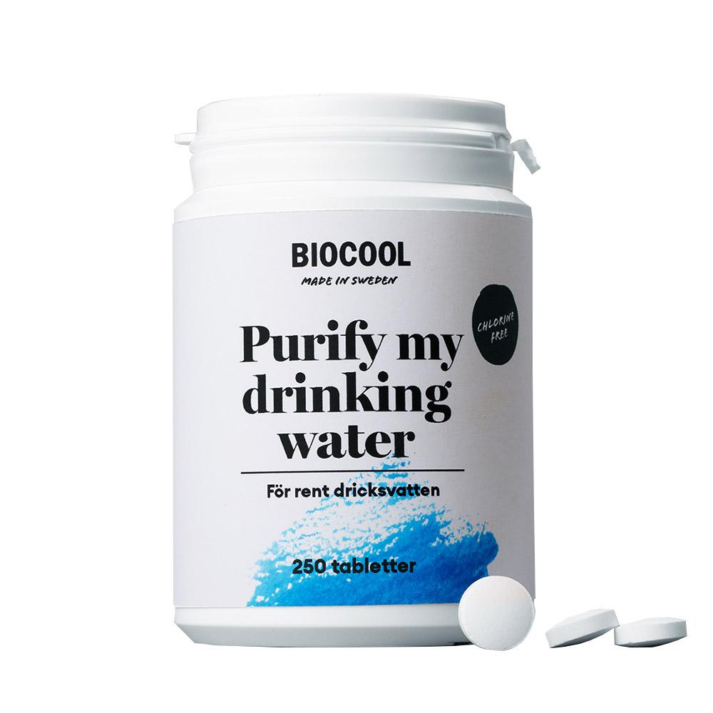 Vattenreningstabletter - Biocool Purify my drinking water 250 tabletter