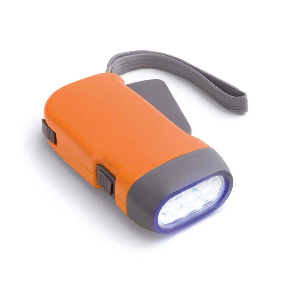 Dynamolampa med 3 LED-lampor Orange