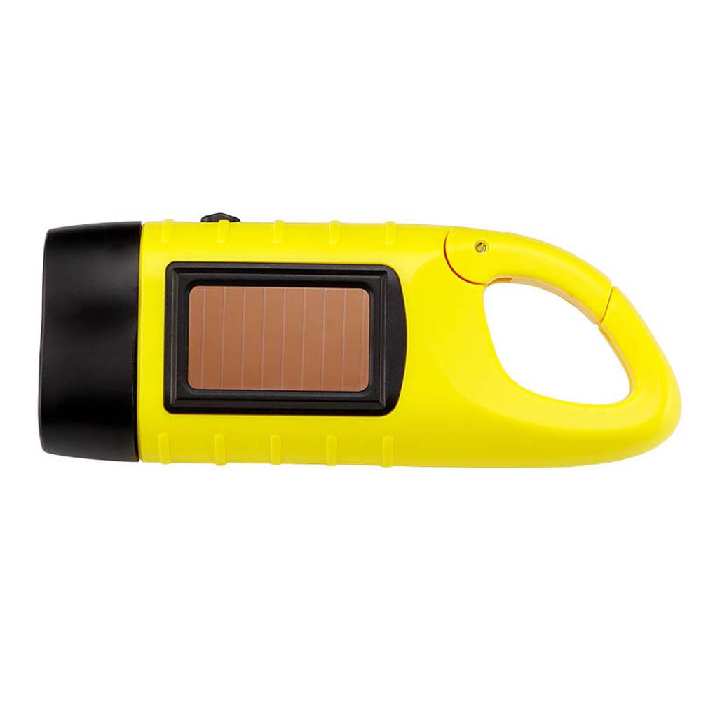Dynamolampa – vevficklampa med solceller, gul