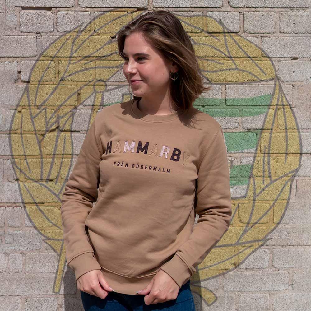 """Hammarby Sweatshirt med ditsytt """"HAMMARBY"""" (Unisex)"""