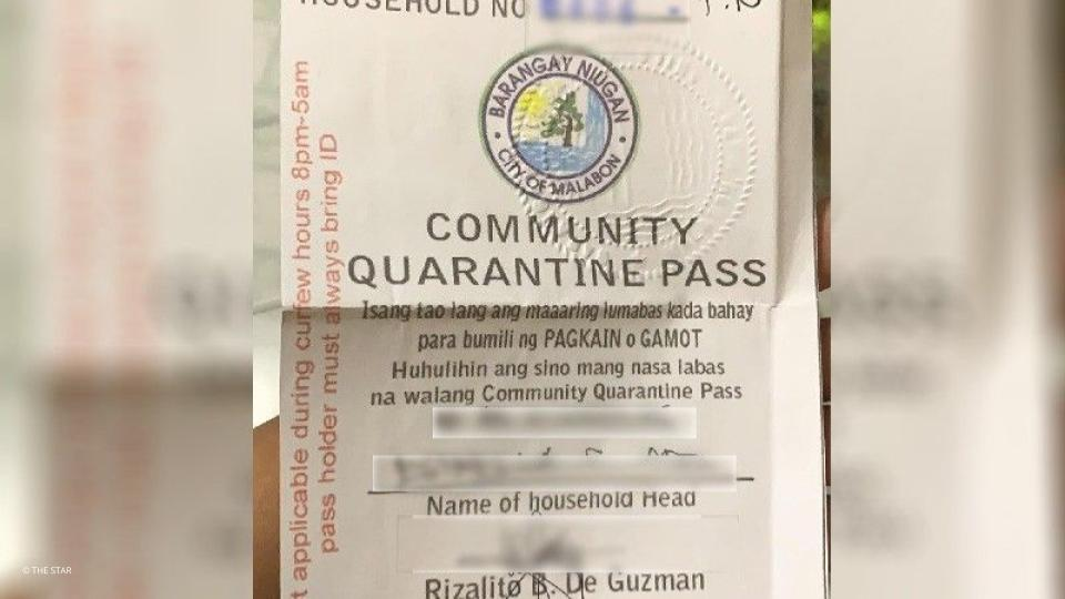 Quarantine Passes