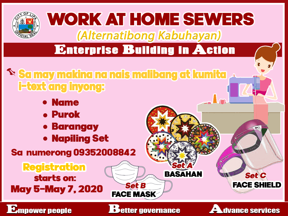 Work at Home Sewers