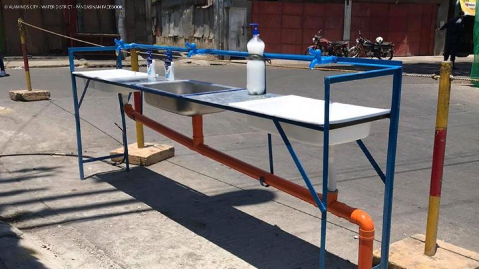 Handwashing Stations in Public Market