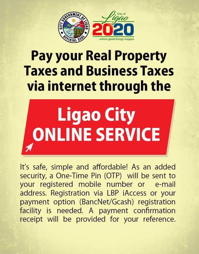 Online Service for Payment of Real Property Taxes and Business Taxes